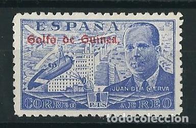 ESPAÑA GOLFO DE GUINEA 1942** JUAN DE LA CIERVA AUTOGIRO (Sellos - España - Colonias Españolas y Dependencias - África - Guinea)