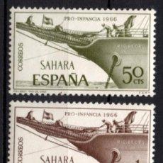 Sellos: SAHARA 249/51* - AÑO 1966 - PRO INFANCIA - BARCOS. Lote 213432293