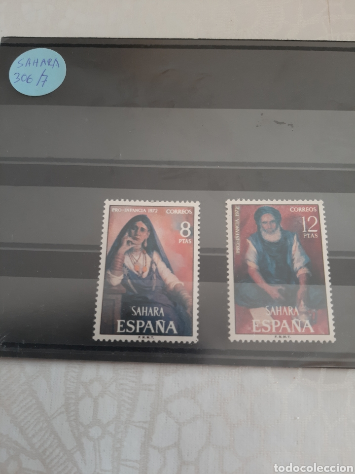 SAHARA COLONIA ESPAÑOLA SERIE COMPLETA NUEVA 306/7 PRO INFANCIA 1972 (Sellos - España - Colonias Españolas y Dependencias - África - Sahara)