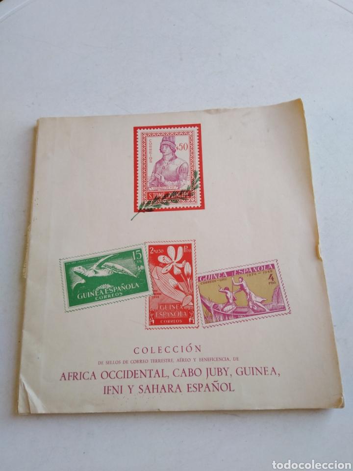 COLECCIÓN DE SELLOS DE CORREO ( 88 SELLOS EN TOTAL TRAE EL ÁLBUM ) (Sellos - España - Colonias Españolas y Dependencias - África - África Occidental)