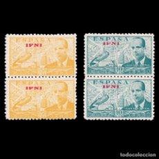 Selos: IFNI.1948.JUAN CIERVA HABILITADO.BLQ 2.SERIE.MNH.EDIFIL.57-58. Lote 215344837
