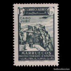 Sellos: CABO JUBY.1942.PAISAJES AVIÓN VUELO.15C.MNH.EDIFIL.135. Lote 215821572