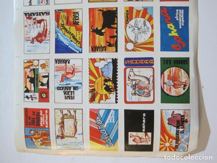 Sellos: LAMINA CON 30 VIÑETAS DEL SAHARA ESPAÑOL-AÑO 1973-VER FOTOS-(V-22.109) - Foto 3 - 215961473