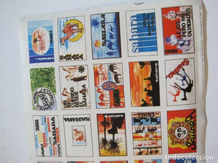 Sellos: LAMINA CON 30 VIÑETAS DEL SAHARA ESPAÑOL-AÑO 1973-VER FOTOS-(V-22.109) - Foto 4 - 215961473
