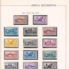 Sellos: SELLOS ESPAÑA AFRICA OCCIDENTAL 1950* EN HOJA EDIFIL CON CANTO DORADO. Lote 216848823
