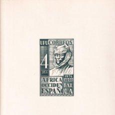 Sellos: SELLOS ESPAÑA AFRICA OCCIDENTAL 1949* Y 1951* EN HOJA EDIFIL CON CANTO DORADO. Lote 216848920