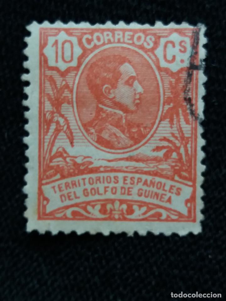ESPAÑA COLONIAS, GOLFO D GUINEA, 10 CT, ALFONSO XIII,1912. (Sellos - España - Colonias Españolas y Dependencias - África - Guinea)