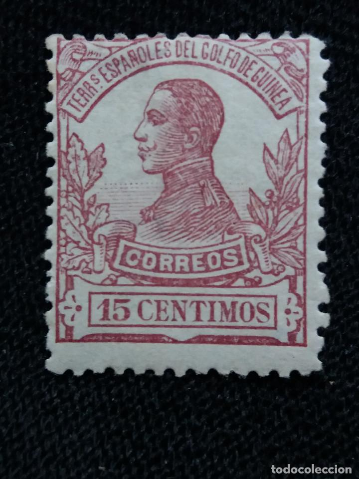 ESPAÑA COLONIAS, GOLFO D GUINEA, 15 CTS, ALFONSO XIII,1912. (Sellos - España - Colonias Españolas y Dependencias - África - Guinea)