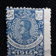 Sellos: ESPAÑA COLONIAS, GOLFO D GUINEA, 25 CTS, ALFONSO XIII,1914.. Lote 216914455