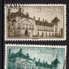 Sellos: FERNANDO POO 347/49 - AÑO 1955 - TRATADO DE EL PARDO. Lote 217489372