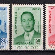 Sellos: MARRUECOS ZONA NORTE 24/26* - AÑO 1957 - PRINCIPE HEREDERO MOULAY EL HASSAN. Lote 218629187