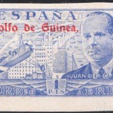 Sellos: 1942 JUAN DE LA CIERVA GOLFO DE GUINEA EDIFIL 268 S CON CHARNELA. Lote 218390541