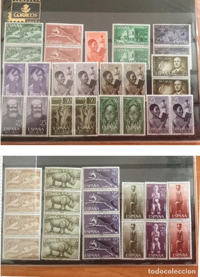LOTE DE 43 SELLOS NUEVOS DE LAS COLONIAS RIO MUNI. VER FOTOS (Sellos - España - Colonias Españolas y Dependencias - África - Río Muni)