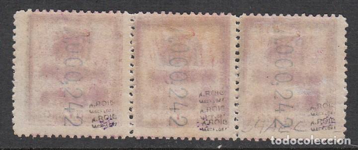 Sellos: 1906 TIRA DE TRES SELLOS NUM 34A 10CTS-15CTS-10CTS, NUEVOS CON SEÑAL DE FIJASELLOS -MARQUILLAS - Foto 2 - 220986162
