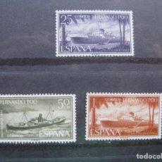 Sellos: FERNANDO POO, 1962, PRO INFANCIA, EDIFIL 207/09. Lote 221072050