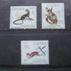 Sellos: FERNANDO POO, 1967, DIA DEL SELLO, EDIFIL 259/61. Lote 221084967