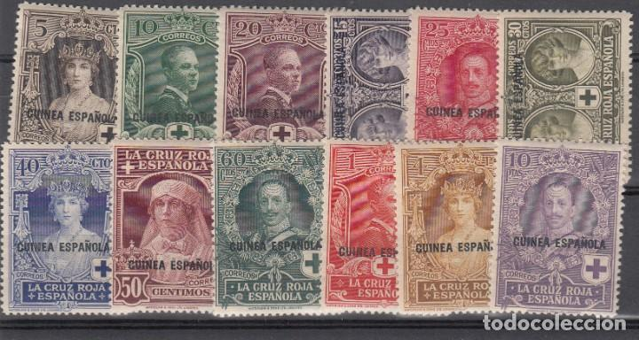1926 GUINEA ESPAÑOLA PRO CRUZ ROJA NUMS 179 A 190 NUEVOS CON FIJASELLOS (Sellos - España - Colonias Españolas y Dependencias - África - Guinea)