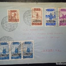 Sellos: 1940.- NADOR (MARRUECOS) A MELILLA.. Lote 221658602