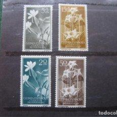 Sellos: ++GUINEA ESPAÑOLA, 1956, PRO INDIGENAS, FLORA, EDIFIL 358/61. Lote 221664731