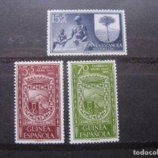 Sellos: ++GUINEA ESPAÑOLA, 1956, DIA DEL SELLO, EDIFIL 362/64. Lote 221664928