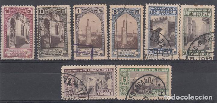 TANGER LOTE DE 8 SELLOS MATASELLADOS DE HUERFANOS DE TELEGRAFOS - (Sellos - España - Colonias Españolas y Dependencias - África - Marruecos)