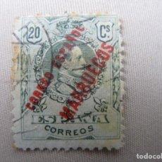 Sellos: -TANGER, 1909, SELLO HABILITADO EDIFIL 5. Lote 221755420