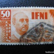 Sellos: ++IFNI, 1951, VISITA DEL GENERAL FRANCO, EDIFIL 73. Lote 221946272