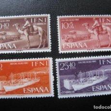 Sellos: ++IFNI, 1961, DIA DEL SELLO, TRANSPORTES, EDIFIL 183/86. Lote 222011157