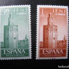 Sellos: ++IFNI, 1963, AYUDA A SEVILLA, EDIFIL 193/94. Lote 222011711