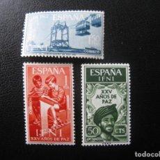 Sellos: ++IFNI, 1965, XXV AÑOS DE PAZ, EDIFIL 209/11. Lote 222013560
