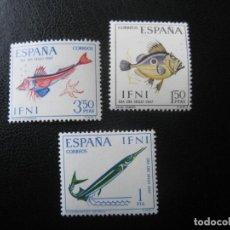 Sellos: ++IFNI, 1967, DIA DEL SELLO,PECES, EDIFIL 230/32. Lote 222014966