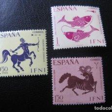 Sellos: ++IFNI, 1968, PRO INFANCIA, SIGNOS DEL ZODIACO, EDIFIL 233/35. Lote 222015116