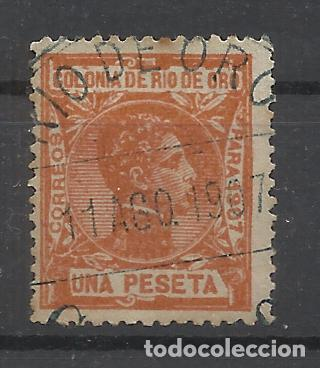 ALFONSO XIII RIO DE ORO 1907 EDIFIL 28 USADO VALOR 2018 CATALOGO 10.- EUROS (Sellos - España - Colonias Españolas y Dependencias - África - Río de Oro)