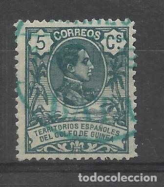 ALFONSO XIII GUINEA ECUATORIAL 1909 EDIFIL 61 USADO VALOR 2018 CATALOGO 0.30 EUROS (Sellos - España - Colonias Españolas y Dependencias - África - Guinea)