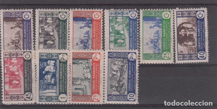 MARRUECOS -1946 ARTESANÍA NUMS 260 A 269 NUEVOS SIN FIJASELLOS (Sellos - España - Colonias Españolas y Dependencias - África - Marruecos)