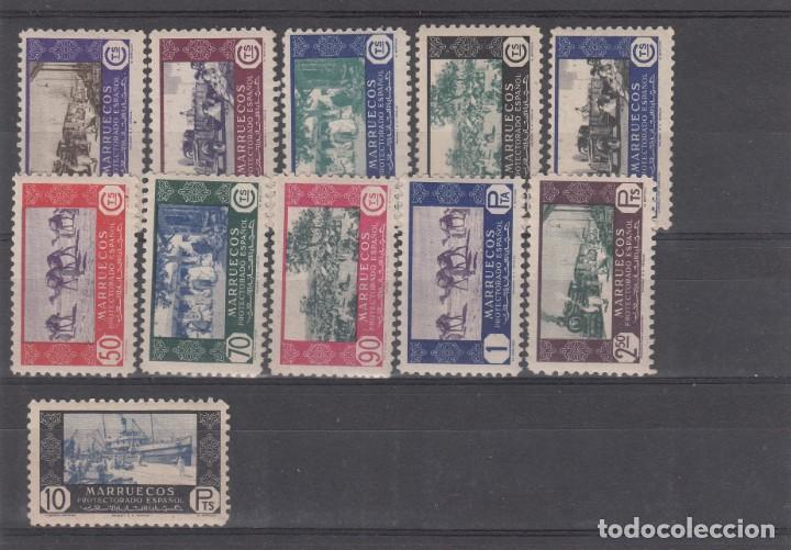 MARRUECOS -1948 COMERCIO NUMS 280 A 290 NUEVOS SIN FIJASELLOS (Sellos - España - Colonias Españolas y Dependencias - África - Marruecos)