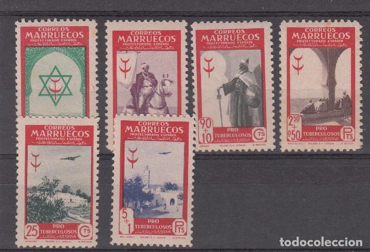 MARRUECOS -1948 PRO TUBERCULOSOS NUMS 291 A 296 NUEVOS SIN FIJASELLOS (Sellos - España - Colonias Españolas y Dependencias - África - Marruecos)