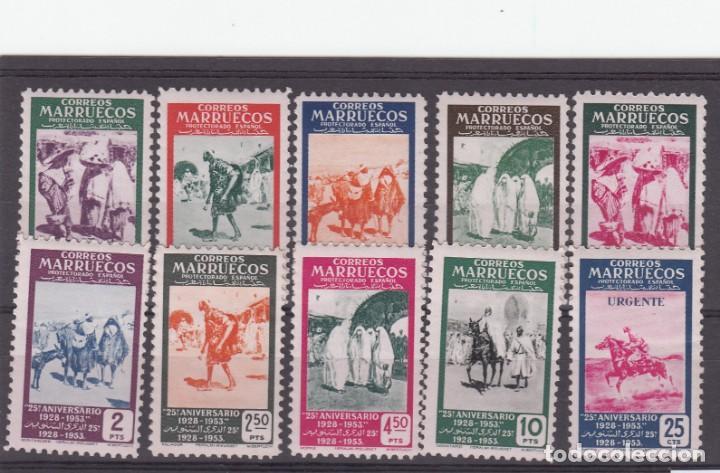 MARRUECOS -1953 NUMS 384 A 393 NUEVOS SIN FIJASELLOS (Sellos - España - Colonias Españolas y Dependencias - África - Marruecos)