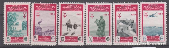MARRUECOS -1954 PRO TUBERCULOSOS NUMS 394 A 399 NUEVOS SIN FIJASELLOS (Sellos - España - Colonias Españolas y Dependencias - África - Marruecos)