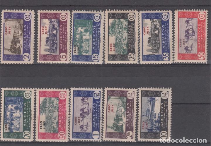 CABO JUBY 1948 NUMS 162 A 172 CON FIJASELLOS (Sellos - España - Colonias Españolas y Dependencias - África - Cabo Juby)
