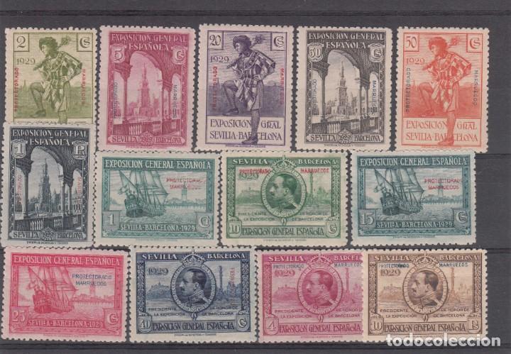 MARRUECOS 1929- EXPOSICION SEVILLA Y BARCELONA NUMS 119 A 131 NUEVOS SIN FIJASELLOS (Sellos - España - Colonias Españolas y Dependencias - África - Marruecos)