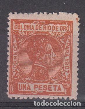 RIO DE ORO NUM 28 NUEVO CON FIJASELLOS (Sellos - España - Colonias Españolas y Dependencias - África - Río de Oro)