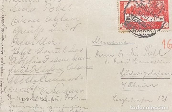 Sellos: MARRUECOS, TARJETA POSTAL CIRCULADA EN EL AÑO 1935 - Foto 2 - 222302643