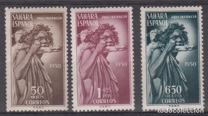 SAHARA ESPAÑOL - PRO INFANCIA NUMS.83 A 85 NUEVOS SIN FIJASELLOS (Sellos - España - Colonias Españolas y Dependencias - África - Río de Oro)