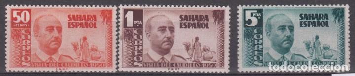 SAHARA ESPAÑOL - NUMS. 88 A 90 NUEVOS SIN FIJASELLOS (Sellos - España - Colonias Españolas y Dependencias - África - Río de Oro)