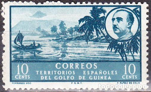 1949 - TERRITORIOS ESPAÑOLES DEL GOLFO DE GUINEA - BAHIA DE SAN CARLOS/GENERAL FRANCO - EDIFIL 279* (Sellos - España - Colonias Españolas y Dependencias - África - Guinea)