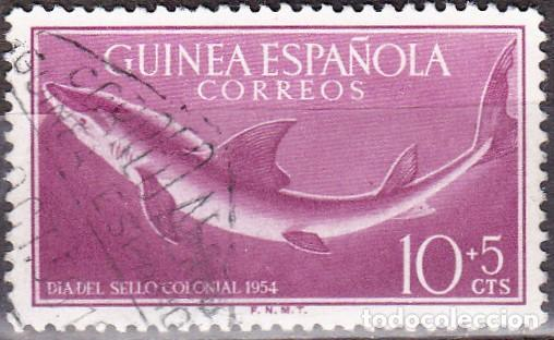 1954 - GUINEA ESPAÑOLA - DIA DEL SELLO - TIBURON SARDA - EDIFIL 339 (Sellos - España - Colonias Españolas y Dependencias - África - Guinea)