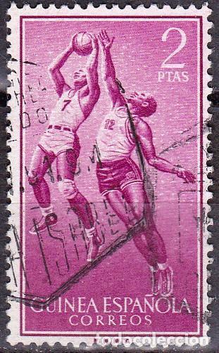 1958 - GUINEA ESPAÑOLA - DEPORTES - BALONCESTO - EDIFIL 381 (Sellos - España - Colonias Españolas y Dependencias - África - Guinea)