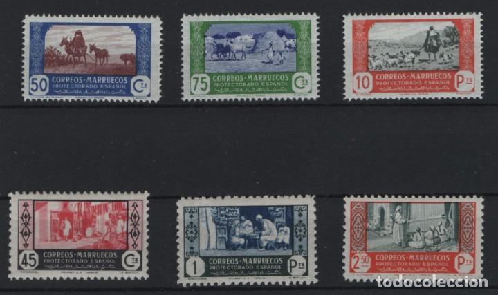 R78/ MARRUECOS ESPAÑOL, EDIFIL 266/68, 288/9 **, 259 **, PRECIOSO LOTE (Sellos - España - Colonias Españolas y Dependencias - África - Marruecos)