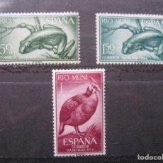 Sellos: ++RIO MUNI, 1964,DIA DEL SELLO, EDIFIL 57/59. Lote 223393450